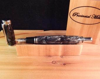 Executive Fountain Pen with Black Hole Acrylic #FP10195