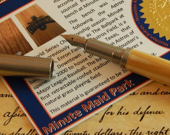 RAW 303 Stainless Steel Fountain Pen with Minute Maid Park Wood - Free Shipping #STW210