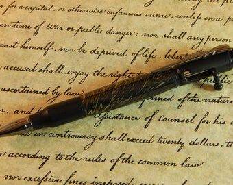 30 Caliber Bolt Action Ballpoint with Gold Bronze and Black Titanium - Free Shipping #ME126
