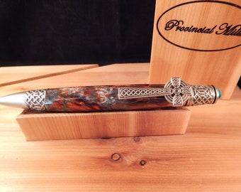 Celtic Twist Ballpoint Pen with Metallurgy Acrylic #BP00384