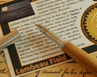 RAW 6061-T6 Aluminum Fountain Pen with Lambeau Field Wood - Free Shipping #STW202