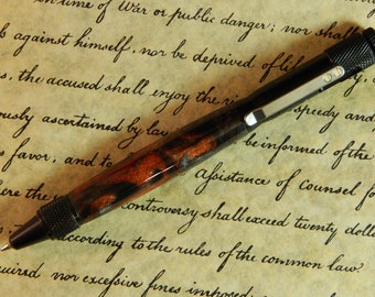 Clip Action Ballpoint Pen with Medieval Forge Acrylic - Free Shipping #BP00220