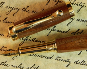 Vellichor Fountain Pen with Walnut Wood - Free Shipping #FP10101