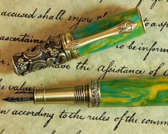 Victorian Fountain Pen - Sun Drop Acrylic - Free Shipping - #FP10120