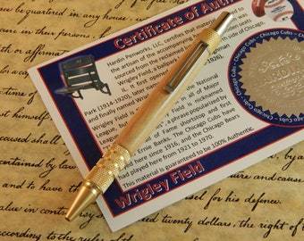 Duraclick C3604 Brass Ballpoint with Wrigley Field Wood  - Free Shipping #STW207