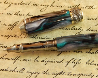 Nouveau Sceptre Rollerball with Midnight Mist Acrylic - Free Shipping #RB3062