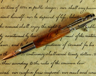 Bolt Action .30 Mechanical Pencil with Cocobolo - Free Shipping #PC064