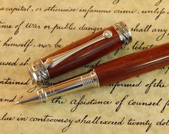 Majestic Jr. Rollerball with Padauk Wood - Free Shipping #RB3076