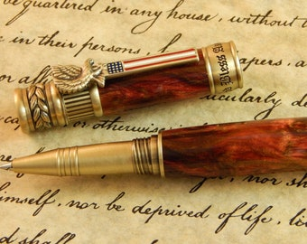 American Patriot Rollerball Pen with Red Desert Acrylic - Free Shipping #RB3123