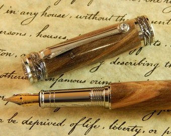 Majestic Jr. Fountain Pen with Ambrosia Maple - Free Shipping #FP10135