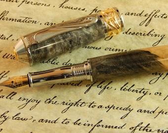 Nouveau Sceptre Fountain Pen with Buckeye Burl - Free Shipping #FP10187