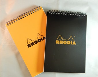 """Classic Rhodia Notepad - Top Wirebound - Lined - 80 Sheets - 6"""" x 8 1/4"""""""