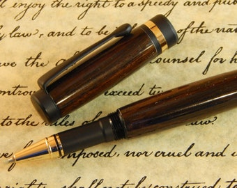 Classic Rollerball Pen with Macassar Ebony - Free Shipping #RB3001