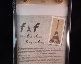 Exacompta FAF Desk Pad 5 1/3 x 8 1/4 with Blank White Paper