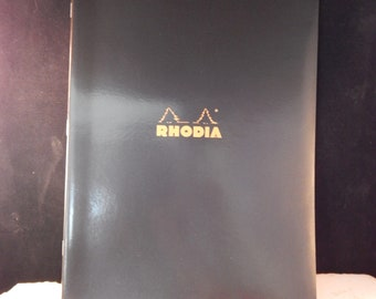 Rhodia Classic Notebooks Side Staplebound, Black, Lined, 48 Sheets 8 1/4 x 11 3/4