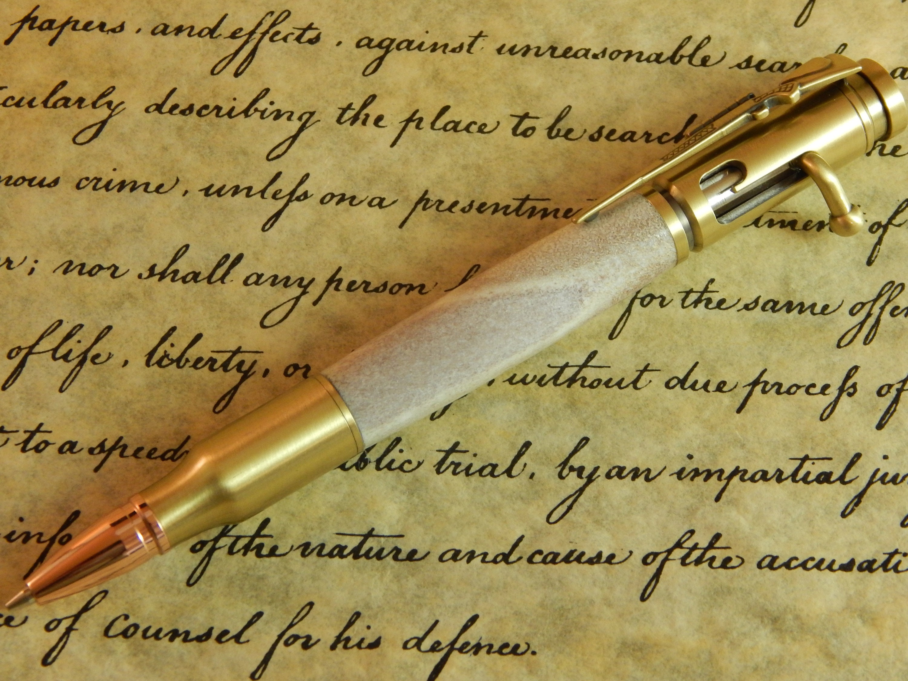 Bolt Action 30 Mechanical Pencil With Deer Antler Free Shipping Pc061
