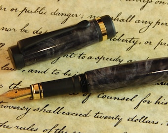 Classic Fountain Pen with Dyed Buckeye Burl - Free Shipping #FP10245