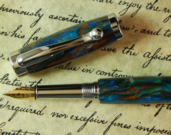 Vellichor Fountain Pen with Natures Canvas Acrylic - Free Shipping #FP10104