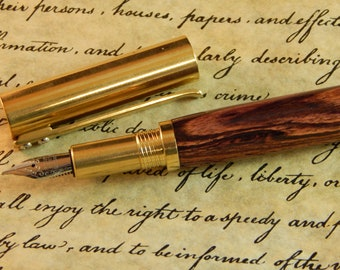 Provincial C3604 Brass Fountain Pen with Kingwood - Free Shipping #FP10286