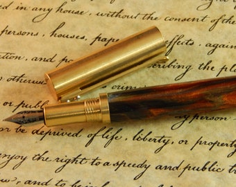 Provincial C3604 Brass Fountain Pen with Metallurgy Acrylic - Free Shipping #FP10292
