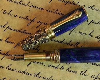 Victorian Fountain Pen - Sweet Vineyard Acrylic - Free Shipping - #FP10115