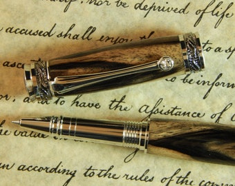 Majestic Jr. Rollerball with Black and White Ebony wood - Free Shipping #RB3077