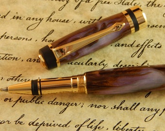 Classic Rollerball Pen with Bronze Dream Acrylic - Free Shipping #RB3080