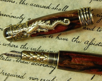 Ruby Red Dragon Fountain Pen - Free Shipping #FP10175