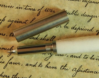 Provincial Stainless Steel Rollerball Pen with Deer Antler - Free Shipping #RB3153