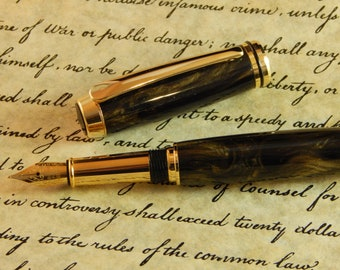 Baron Fountain Pen with Glistening Shadow Acrylic - Free Shipping #FP10152