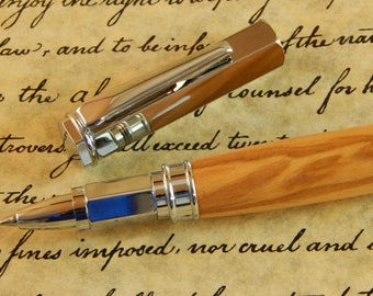 Vertex Rollerball Pen (magnetic cap) with Olive Wood - Free Shipping #RB3024