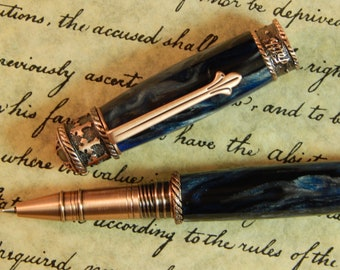 Faith Hope Love Rollerball Pen Crafted from Raging Tempest Acrylic - Free Shipping #RB3037