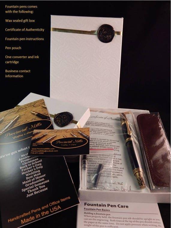 Baron Fountain Pen With Kings Ransom Acrylic Fp10153 Etsy