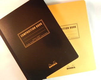 """Rhodia Composition Notebook - Lined / College Rule - 80 Sheets - 7 1/2 x 9 7/8"""""""