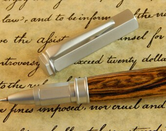 Vertex Rollerball Pen (magnetic cap) with Bocote Wood - Free Shipping #RB3019
