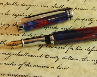 Baron Fountain Pen with Party Flare Acrylic - Free Shipping #FP10149
