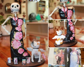 Dia de los Muertos Art / Day of the dead / Folk Art / Custom Skulls / Altar Figurines / Valentine's Day Gifts / Mother's Day Gifts
