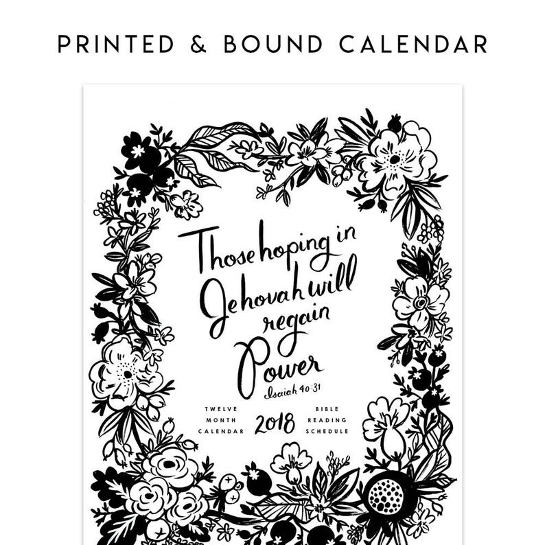 2018 BW Calendar - Those Hoping in Jehovah Will Regain Power - Isaiah  40:31, JW Calendar, Pioneer Gift, JW Ministry, Jehovah's Witnesses