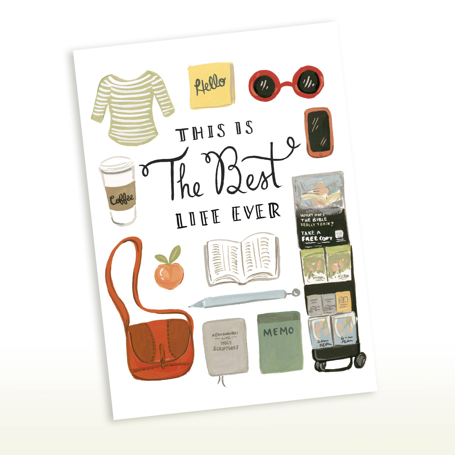 Greeting Card Best Life Ever 5x7 Jw Gift Greeting Card Etsy