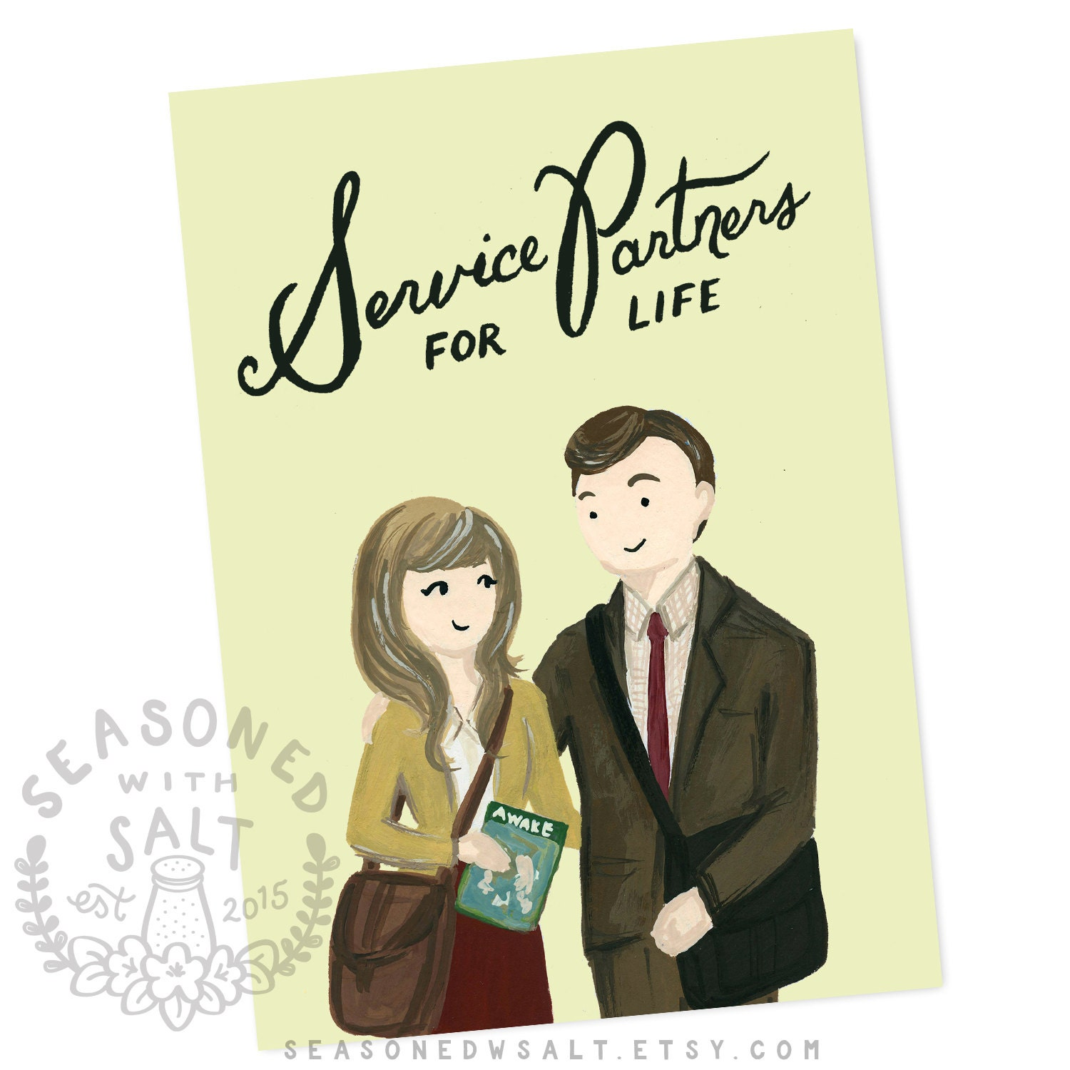 Greeting Card Service Partners For Life 5x7 Jw Gift Jw Etsy