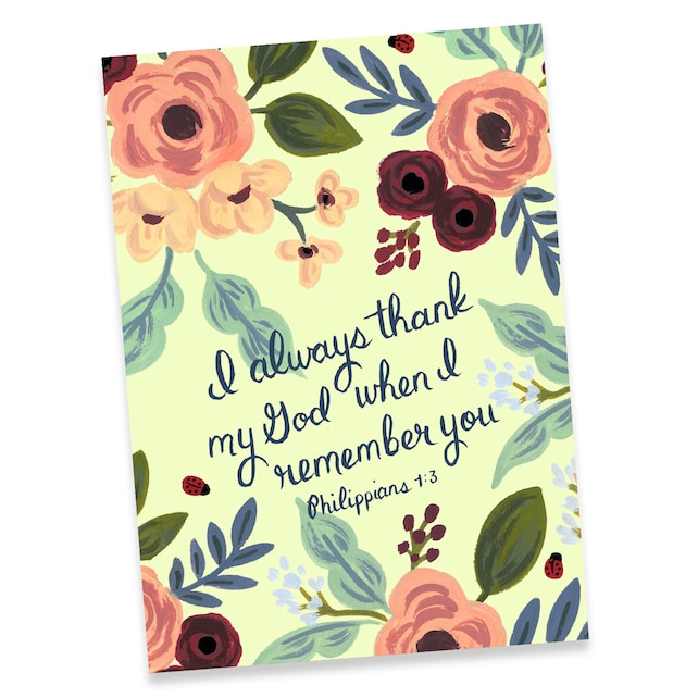 Greeting card i always thank my god when i remember you etsy image 0 m4hsunfo