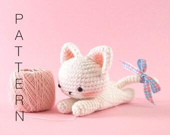 Amigurumi crochet cat PATTERN ONLY (English)