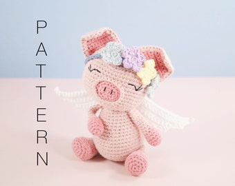 Amigurumi crochet cute pig pattern - Pippa the pig PATTERN ONLY (English)