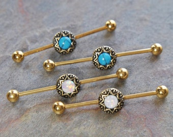 """3X 6X 18G 1//4/"""" 5//16/"""" 3//8/"""" STEEL CURVED EYEBROW BARBELLS HELIX STUDS TRAGUS RINGS"""