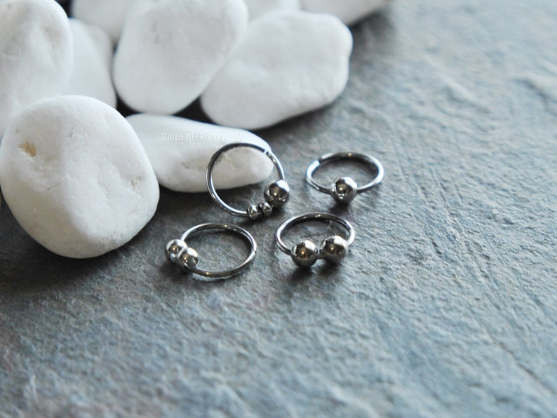 6-14mm Stainless Steel Lip Nose Septum Eyebrow Captive Ring Stud Earring Gift