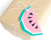 Geo Watermelon Gift Tags