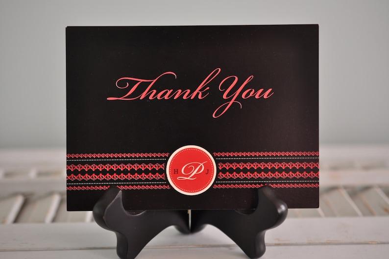 Custom Thank you Card Monogram Thank you Card Thank you Card