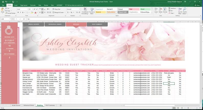 Wedding Guest List Organizer image 0