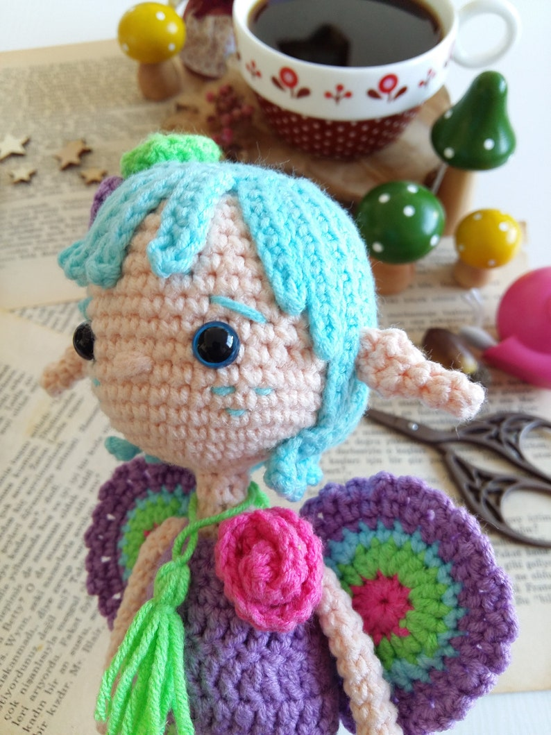 Little Fairy Pui \u2022 Crochet PatternAmigurumi PDF Turkish