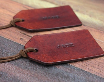 1ac4a8b6896fa Personalised Leather Tag